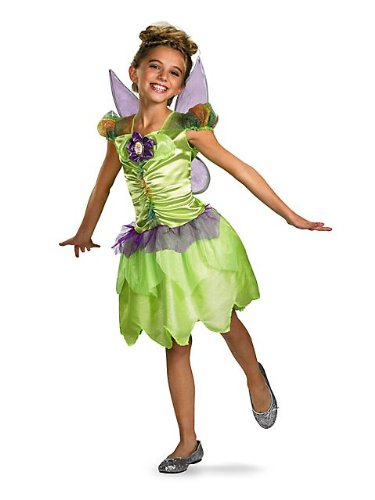Girls Classic Disney Tinker Bell Rainbow Costume