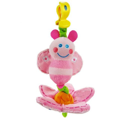 Baby Early Development Rattle Toys Multifunctional Plush Bee Bed Hang Ring Bell front-521128