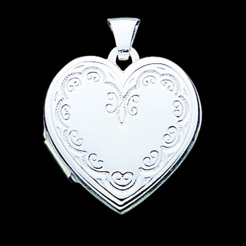 Sterling Silver Heart Locket. Metal Weight- 2.45g.