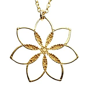 Flower Power! Gold-dipped Pendant Necklace on 18
