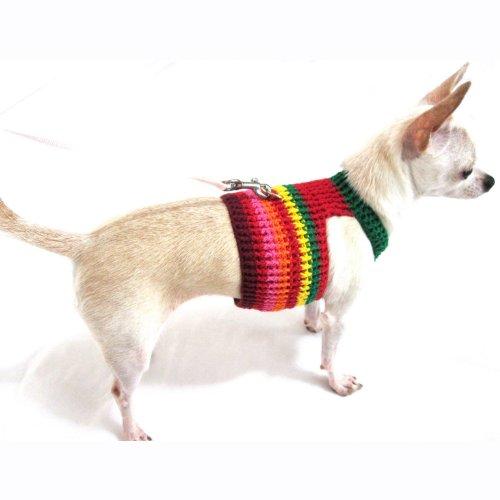 41P4YMCatnL rasta bohemian dog harness vest collar unique handmade crochet by