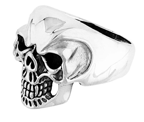 Stainless Steel Skull Ring (Available in Sizes 10 to 14) size 14