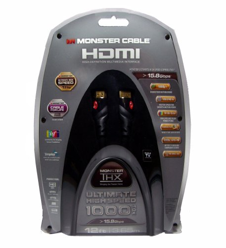 Monster Cable - Thx 1000HDX 12 feet Ultimate High Speed HDMI 17.8 Gbps (Discontinued by Manufacturer)