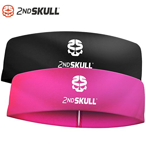 2nd SKULL 4mm Protective Headband With Silicone Grip. Protective Headgear With Impact Absorbing Technology. (Radiant Black)