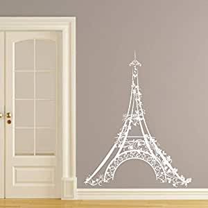 Wall decals eiffel tower paris travel france for Dining room wall art amazon