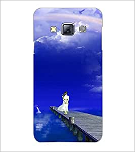 PrintDhaba Stranded Girl D-3286 Back Case Cover for SAMSUNG GALAXY A3 (Multi-Coloured)