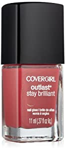 Covergirl Outlast Stay Brilliant Nail Gloss, Lingering Spice 265, 0.37 Ounce