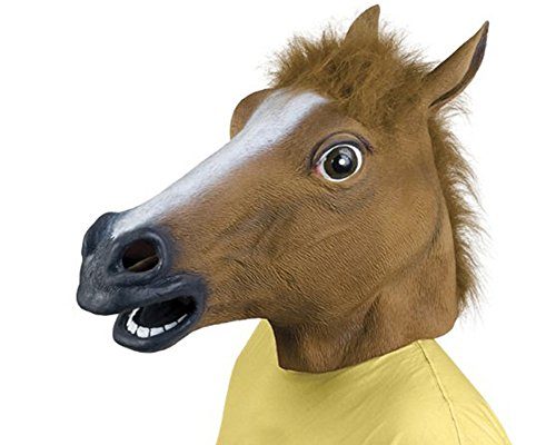 Queenshiny Latex Horse Head Masks Decorations Props Adult Gangnam Style Party