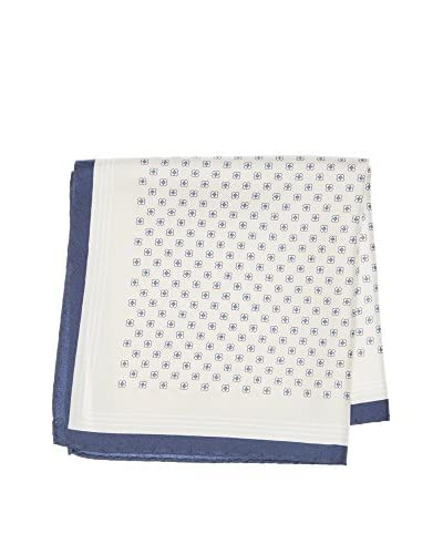 Ortiz & Reed Pañuelo Seda Poc-404251 Blanco / Azul