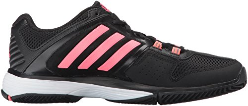 Adidas Performance Women's Barricade Club W Tennis Shoe, Black/Flash Red/White, 8 M US