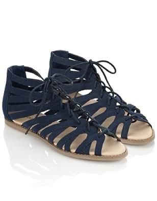 Monsoon Femmes Spartiates Cavendish Taille Chaussures 40 Bleu