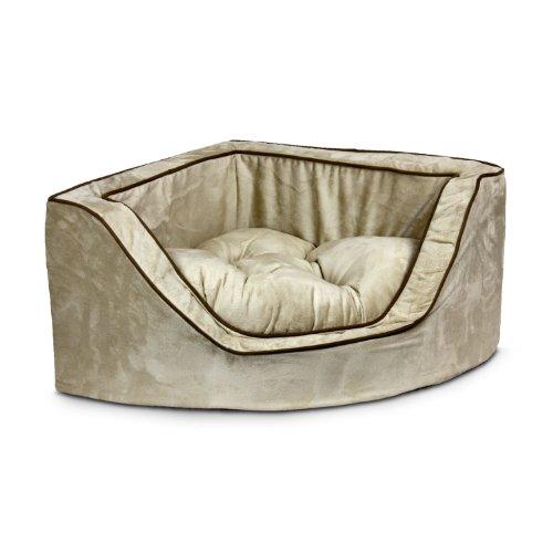 Snoozer Luxury Corner Pet Bed, Large, Buckskin/Java front-52704