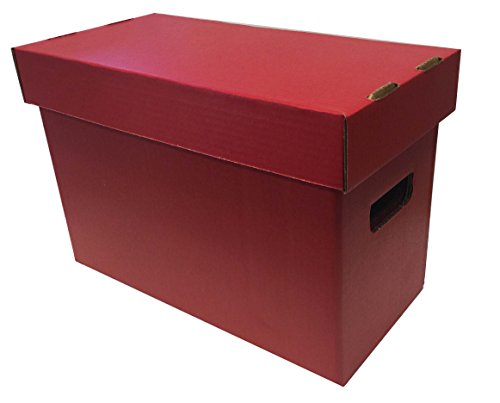 5-Max-Pro-SHORT-Colored-Comic-Storage-Box-Holds-150-175-Comic-Books-RED