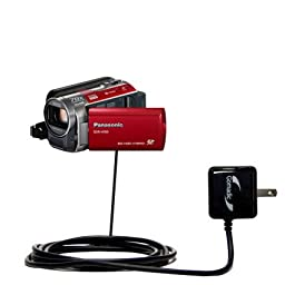 Panasonic SDR-H100 Camcorder compatible Advanced Rapid Wall AC Charger - Amazingly powerful home charge design built with Gomadic Brand TipExchange