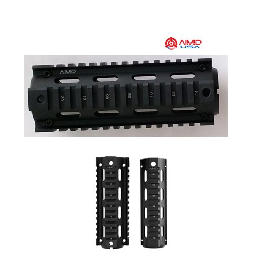 AIMID AR 15 Rail .223 Length 6.7inch Low Aluminum Black 2pc Package