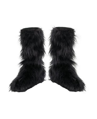 Furry Boot Covers - Costume Accessory