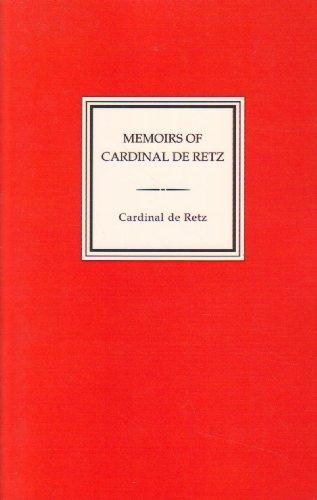 Image of Memoirs of Cardinal De Retz