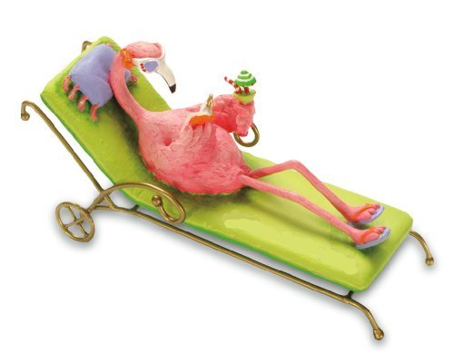 Lounging Flamingo Xmas Tree Ornament