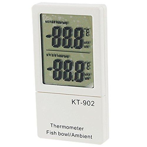 uxcell デジタル温度計 デジタル水温計 温度調節器 LCD液晶画面 水族館用 水槽用 -50 to +70°C