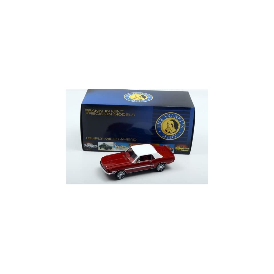 1968 Mustang High Country Special in Candy Apple Red in 124 Scale by the Franklin Mint