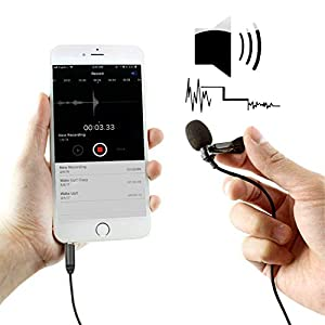 Mouriv CM205 Ultimate Lavalier Microphone For Bloggers And Vloggers Lapel Mic Clip-on Omnidirectional Condenser for Iphone Ipad Samsung Android Windows Smartphones (189 inch
