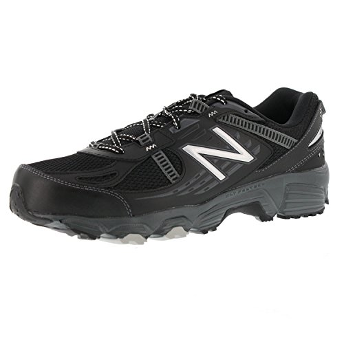 New Balance Men's MT410V4 Trail Shoe, Black/Silver, Size 15(4E) Extra Wide (Mens Extra Wide Running Shoes compare prices)