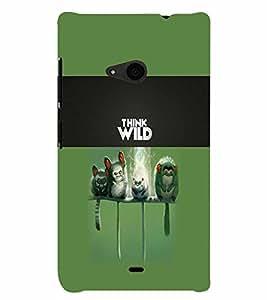 PrintVisa Animal Quotes 3D Hard Polycarbonate Designer Back Case Cover for Nokia Lumia 535