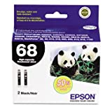 T068120D2 High-Yield Ink, 2/Pack, Black by EPSON (Catalog Category: Computer/Supplies & Data Storage / Printer Supplies/Accessories)