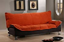 Hot Sale ONE NEW MICROFIBER FUTON SOFA BED, ITEM#3503-TERRECOTA