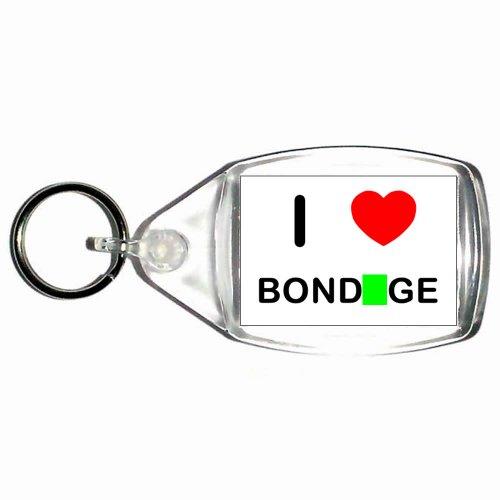 I Love Bondage - Kleine Kunststoffschlüsselanhänger