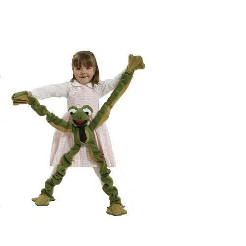 Anatina Toys - Frog to Wear Puppet - Plush Toy - Handmade & Eco-Friendly
