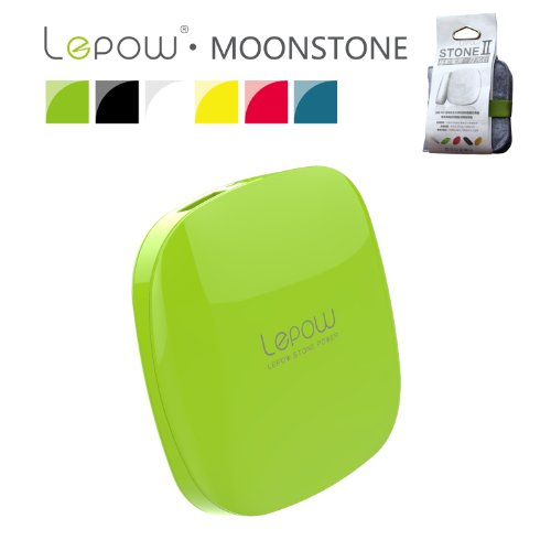 Buy Lepow® Moonstone Series 3000mAh Lithium Polymer Portable Charger external battery pack backup power bank with Dual USB (2.1A/1.2A) output and LED Flashlight for iPhone 5S, 5C, 5, 4S, iPad Air, mini (Apple Adapters - 30 pin and lightning, not included), Samsung Galaxy S5, S4, S3, S2, Note 3, Galaxy Tab 3, 2, HTC, LG, Nexus, Nokia, Sony and Most other Android Smartphones, Tablets, PS Vita and other USB charged devices-Green