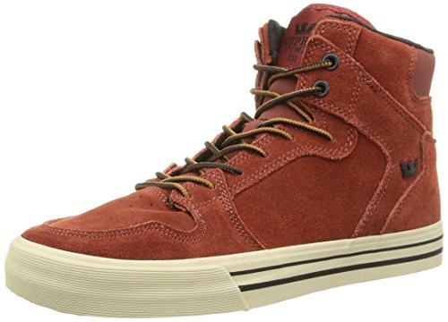 SupraVAIDER - Sneaker Unisex - adulto , Rosso (Rot (BURNT HENNA  / BONE - WHITE   BHN)), 43