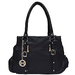 Frenchxd Cherilynn Clara Fancy Stylish Handbag For Women (Black)