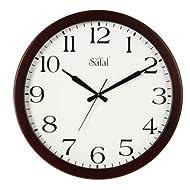 Safal Wooden Wall Clock (40.64 cm x 40.64 cm, Brown, SQ 1077)