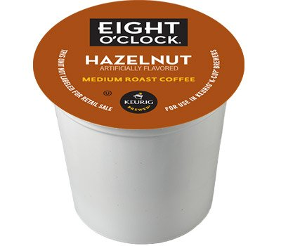 48 Count - Eight O'Clock Hazelnut Coffee k Cup For KEURIG Brewers