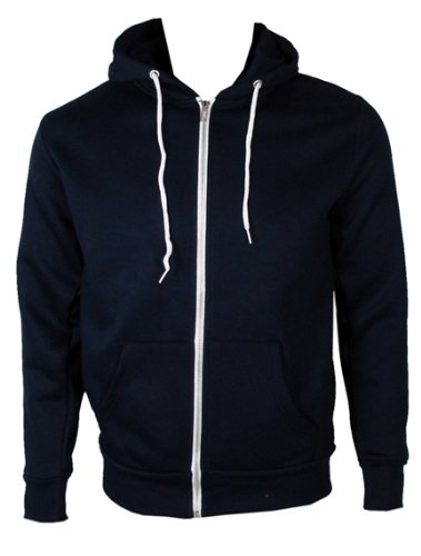 The Home of Fashion Mens Fleece Lined Hooded Jumper-S -Navy
