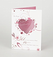 Painterly Ruby Wedding Anniversary Card