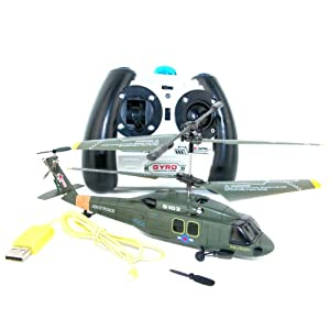 Syma S102G Mini Black Hawk Gyro Helicopter