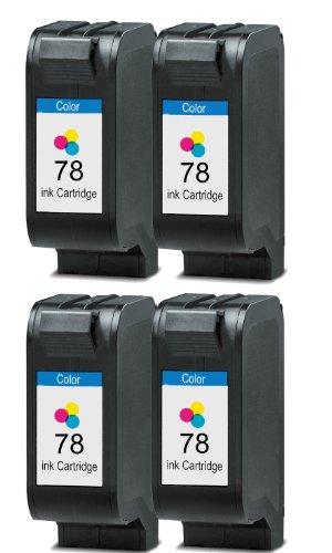 Merotoner® - 4 x Druckerpatrone für HP 78 HP Deskjet 930C 950C 959C 960C 970CXI 980CXI 990CXI 995C 1180C 1220C 1220C PS 1220CSE 1280 6120 6122 6127 9300