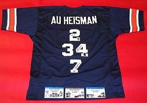 Cam Newton Bo Jackson Pat Sullivan Autographed Auburn Heisman Jersey Gtsm by Sports+Memorabilia