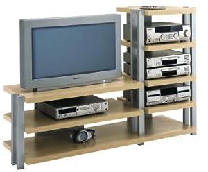 jahnke power rack pr 1400 tv stand with av component rack maple electronics. Black Bedroom Furniture Sets. Home Design Ideas