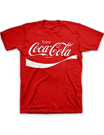 coca cola classic coke men 39 s red t shirt clothing. Black Bedroom Furniture Sets. Home Design Ideas
