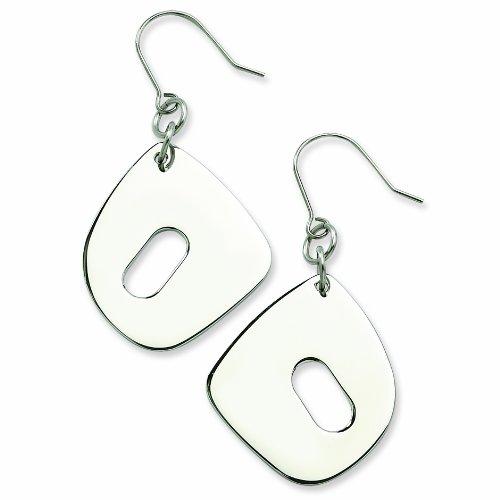 Genuine Chisel (TM) Earrings. Stainless Steel Fancy Link Earrings. 100% Satisfaction Guaranteed.