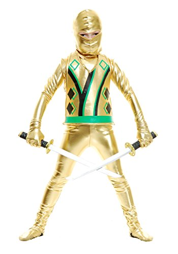 Boys Gold Ninja Avengers Series III Costume X-Large (12-14) (Gold Ninja Costume Boys compare prices)