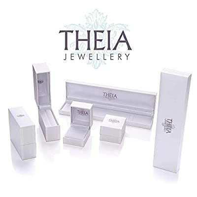 Theia Sterling Silver Oval 1.8 ct Emerald Gem Stone with Diamonds 18.5 Double Drop Link Bracelet