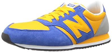 New Balance Men's U420 Running Shoe,Blue/Yellow,6.5 D US