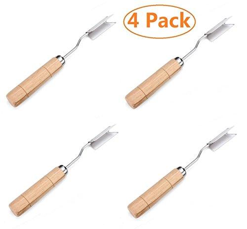 Aikoi V Shape Stainless Steel Pineapple Eye Peeler Remover -4 Pack (Pineapple Eye Remover compare prices)