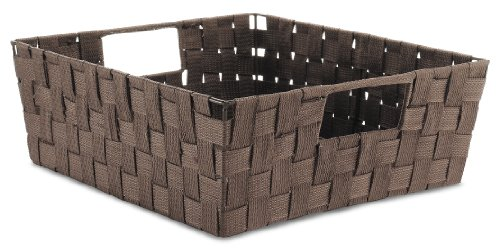 Whitmor 6581-2711 Woven Strap Shelf Tote, Java front-231094