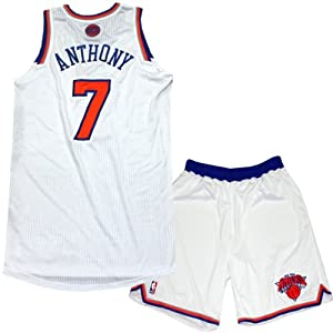 Carmelo Anthony Uniform - NY Knicks 2013-2014 Season Game Used #7 White and Orange... by Steiner Sports